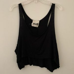 BLQ / Urban Outfitters Black Sleeveless Crop Top